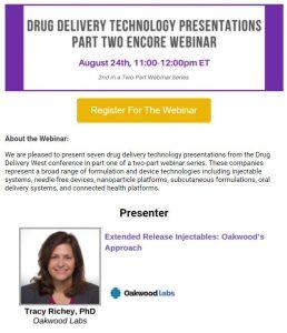 Oakwood Labs Extended-Release Drug Delivery Webinar